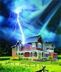 Молниезащита зданий, молниеприемник г.Славгород