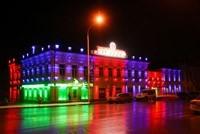 Наружное освещение: архитектурное освещение зданий, фасадов дома в Славгороде